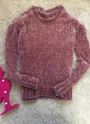 Пудровый меланжевый свитер плюшевый свитшот джемпер asos
