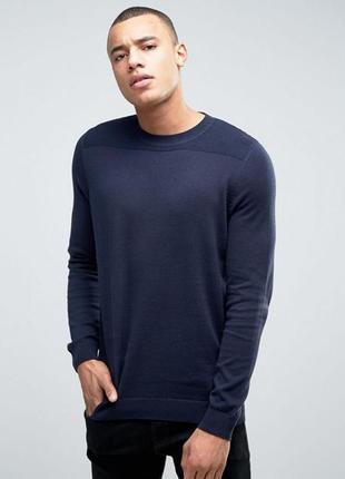 Актуальный мужской вязаный джемпер, пуловер хлопковый, свитер ...