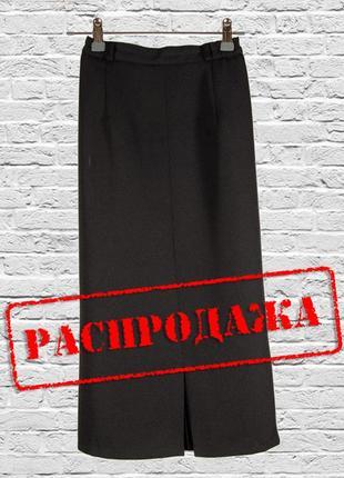 Черная классическая юбка миди, длинная юбка карандаш