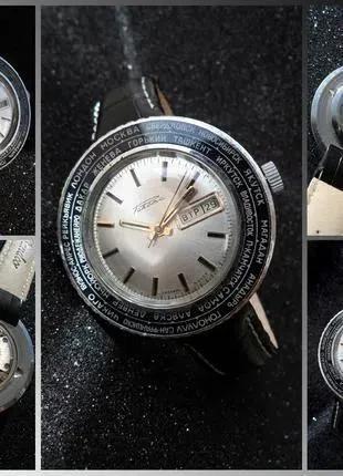 РАКЕТА_ГОРОДА, сделано СССР 70-х. БОЛЬШИЕ МУЖСКИЕ часы механика..
