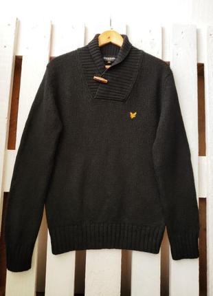 Шерстяной винтажный свитер lyle&scott
