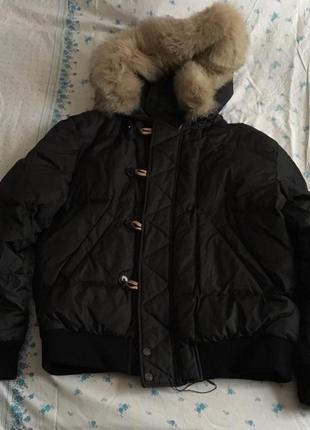 Пуховик мужской куртка пуховая теплая зимняя baldessarini