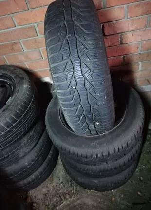 Шины зимние с дисками на Peugeot 4/108