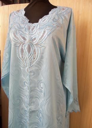 Длинное ажурное платье рубаха в этно стиле / джаллаба / абая / га
