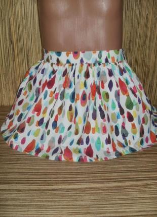 Яркая юбка на 2-3 года