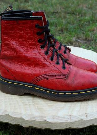 Красные кожаные ботинки dr.martens оригинал, размер 36