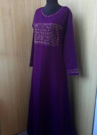Длинное платье рубаха / абая джаллаба xs/s в этно стиле