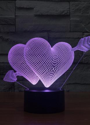 3D светильник с обьемным оптическим эффектом