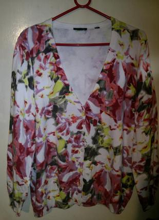 Тёплая,трикотажная блуза,кофта-кардиган,на пуговицах,большого ...