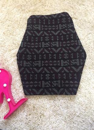 Мини юбка new look с принтом