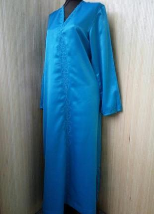 Длинное лазурнон плате рубаха / кафтан / джаллаба / абая m/l