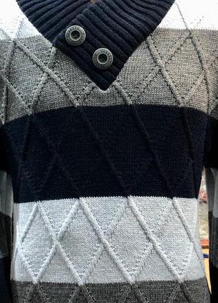 Мужской теплый свитер.70% шерсти.