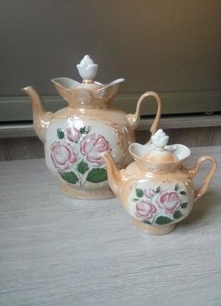 Керамический чайник и заварник