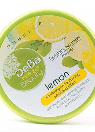 """Смягчающий осветляющий крем для лица и тела """"лимон"""" natural be..."""