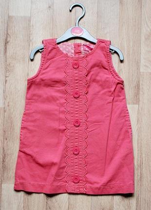 Сарафан розовый джинс minoti для девочки