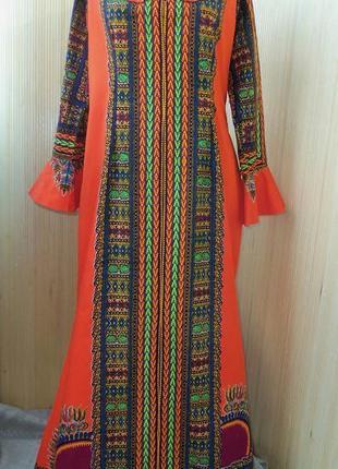 Длинное платье в этно стиле