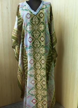 Длинное платье туника в этно стиле