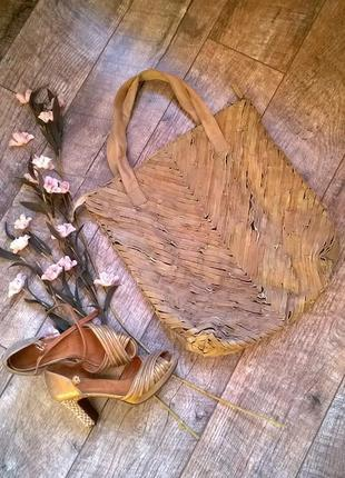 Сумка -шоппер из натуральной кожи от pieces-индия
