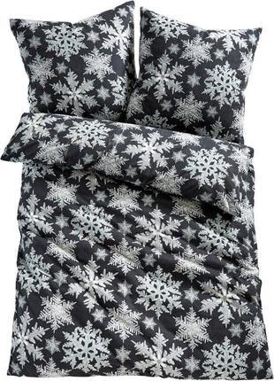 """Постільна білизна  """" ❄️ сніжинки ❄️ """"  натуральна  тканина  бя..."""