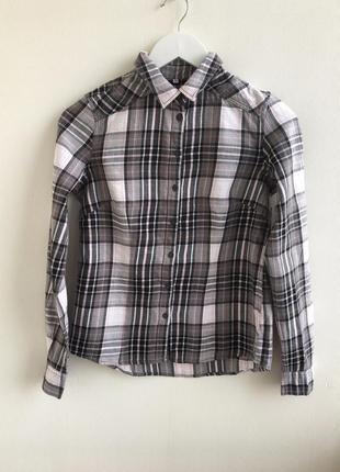 Актуальная рубашка в клеточку up fashion
