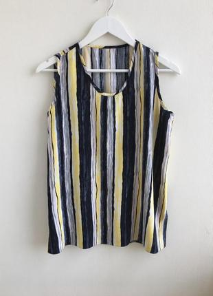 Удлиненная блуза в вертикальную полоску
