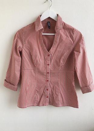 Распродажа!!! качественная рубашка в мелкую клеточку