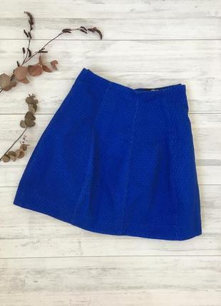 Распродажа!!! фактурная  юбка цвета электрик asos
