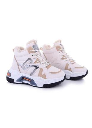 Женские кроссовки на меху зимние ботинки