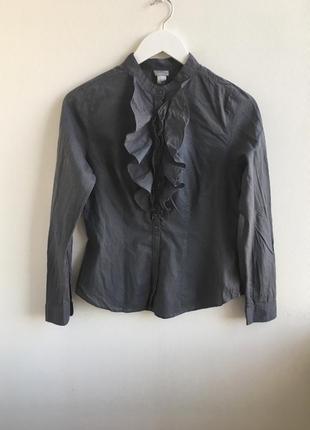 Распродажа!!! блуза в вертикальную полоску с рюшами h&m