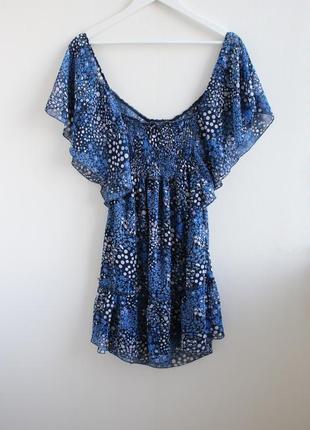 Распродажа!!! шифоновое платье в горошек okay