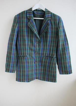 Распродажа!!! удлиненный пиджак в клетку, винтаж