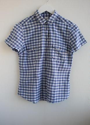 Распродажа!!! рубашка в клетку с коротким рукавом от h&m