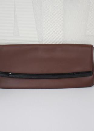 Кожаная сумка- клатч, винтаж
