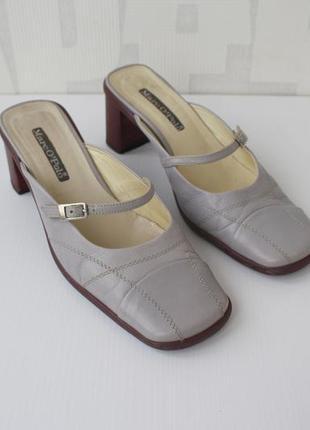 Распродажа!!!фирменные кожаные босоножки без задников от marc ...