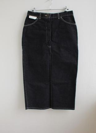Распродажа!!! джинсовая винтажная длинная юбка карандаш в ново...