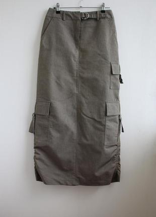 Распродажа!!! крутая юбка в пол с караманами