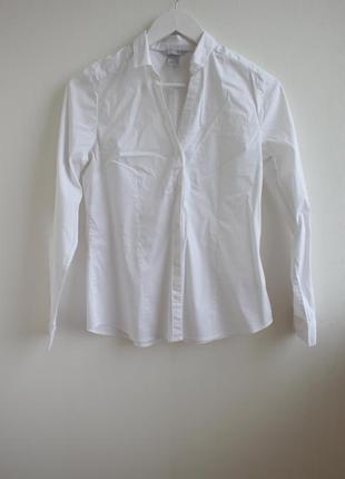 Базовая белая рубашка от h&m