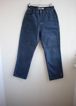 Винтажные джинсы высокая посадка с вышивкой