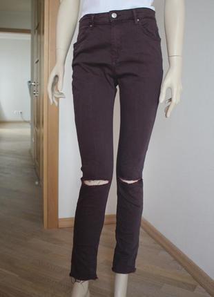 Прямые джинсы высокая посадка h&m