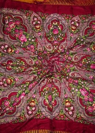 Хустка українська бордо, платок