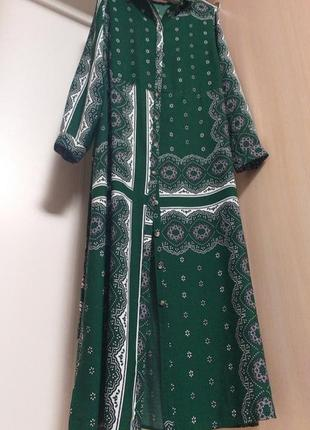 Длинное платье халат с поясом
