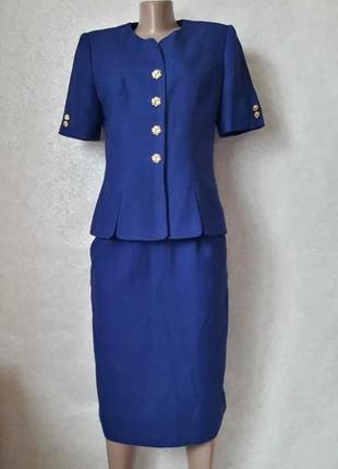 Новый нарядный аккуратный красивый костюм (кофта+юбка миди) цв...