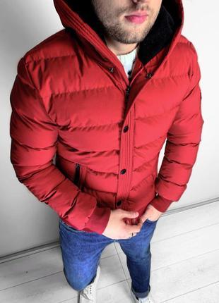 Куртка мужская зимняя красная