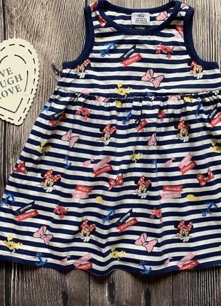 Летнее платье с минни маус на 3-4 года