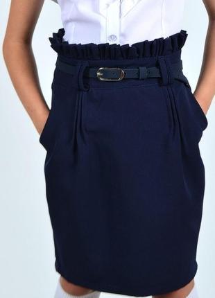Нарядная детская юбка с завышенной талией