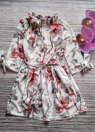 Красивое платье из креп-шифона