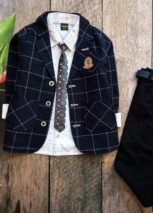 Нарядний костюм люкс якості: рубашка, галстук, піджак штани з ...