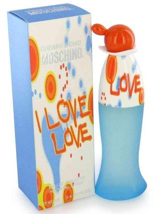 Moschino i love love туалетная вода 30 мл