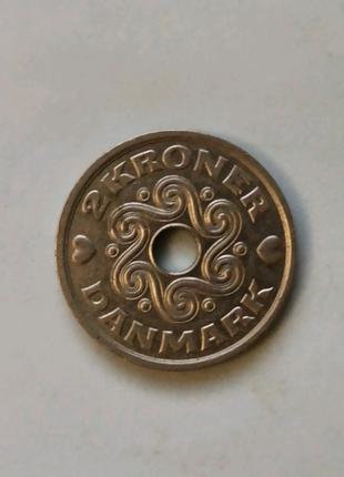 Монета 2 кроны 1999, Дания