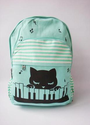 """Стильный, тканевый рюкзак  """"cat"""""""